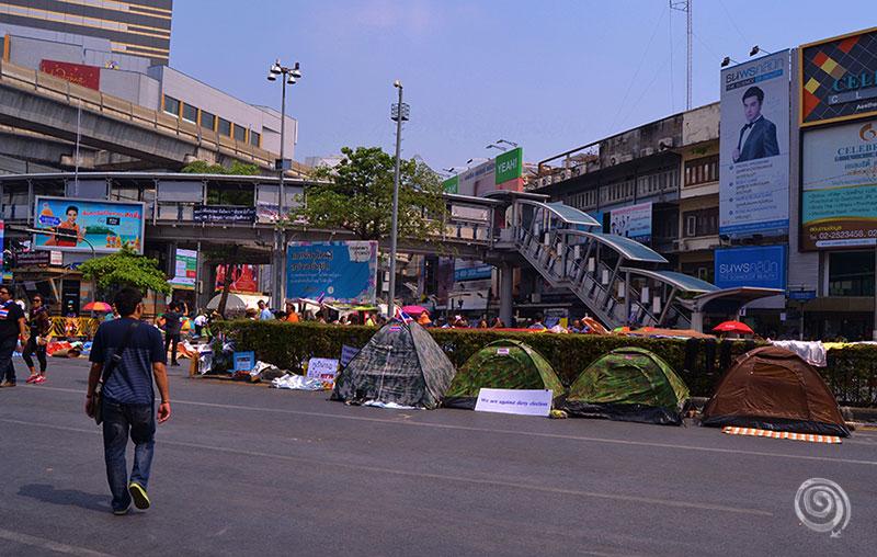 Protesta atrapada Bangkok