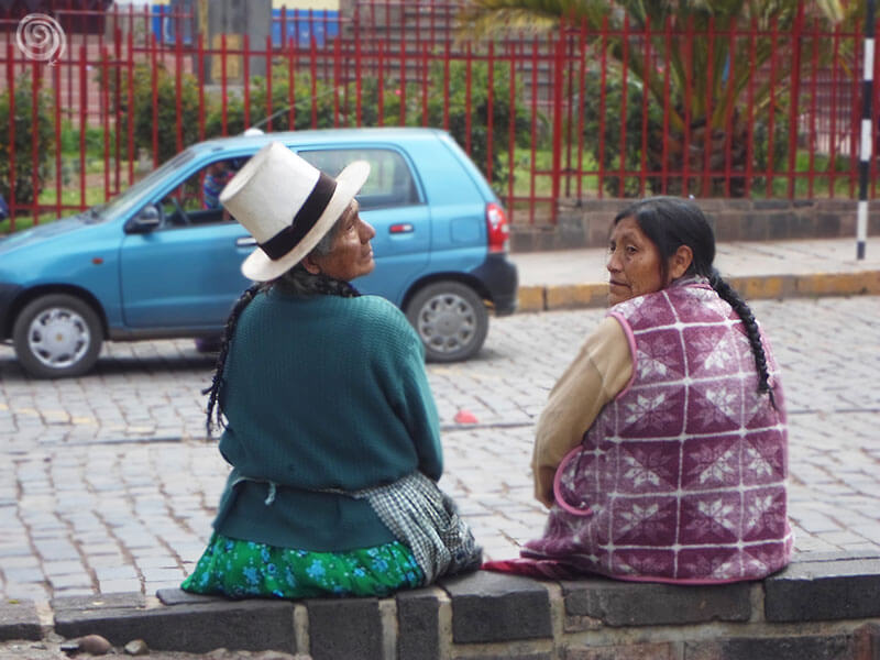 Dos cholas en Cusco, la capital inca
