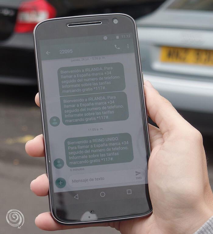 móvil mensaje internet irlanda norte frontera coches matricula