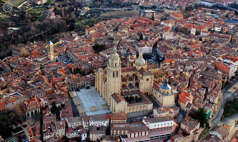 Catedral de Segovia desde el aire