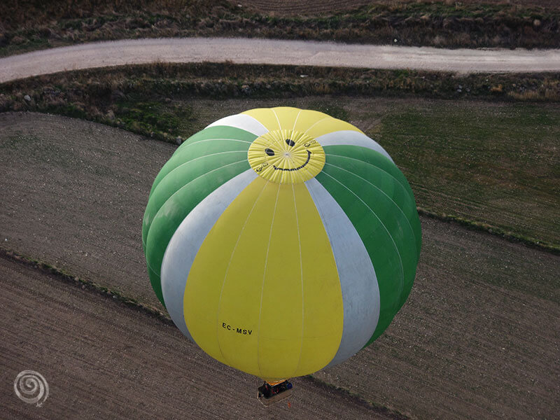 Volar en globo sobre los campos de Segovia