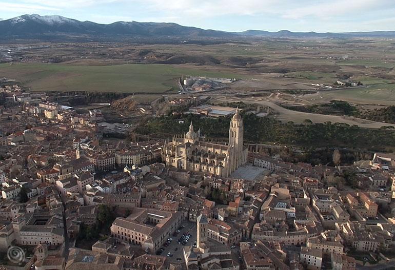 Vistas de Segovia desde un globo