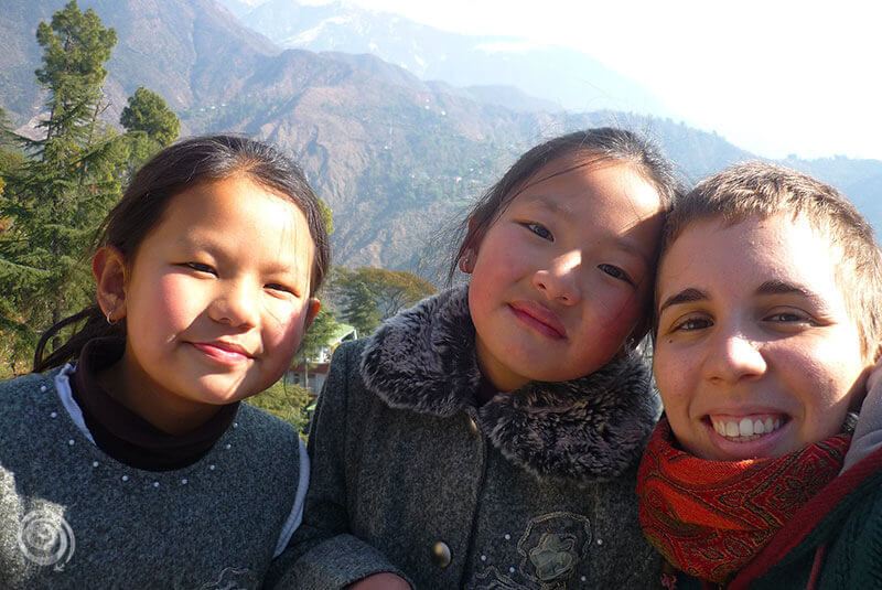 Tibetan girls in India