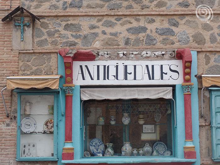 Tienda de antiguedades en Toledo