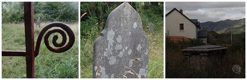 cementerio abandonado en el campo del oeste de Irlanda