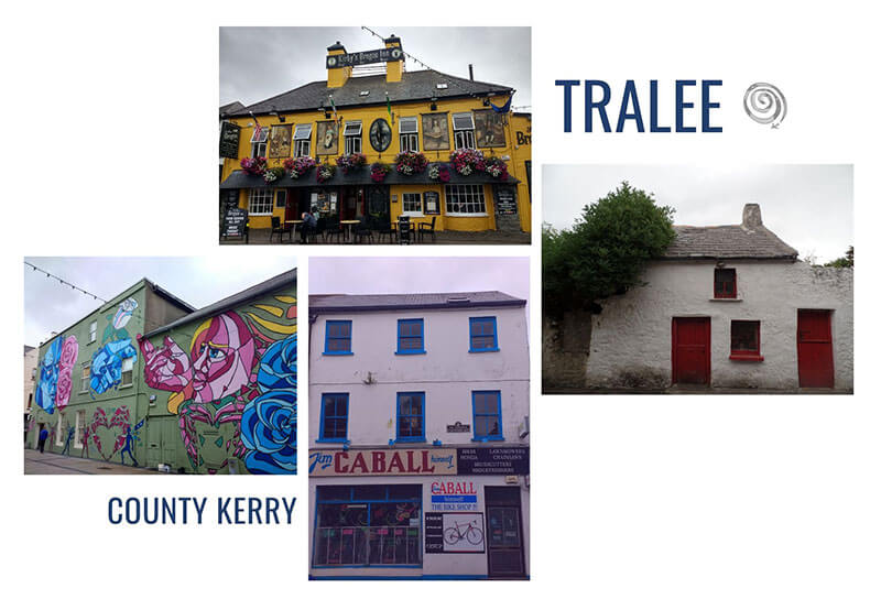 Colourful houses and pubs in Tralee (County Kerry) Ireland