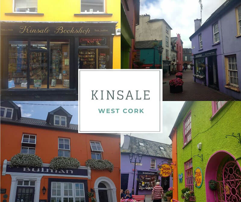 Colourful houses in Kinsale West Cork (Ireland)