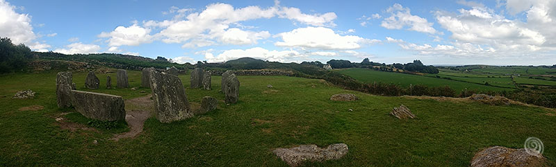 Drombeg stone circle in west Ireland (druid's altar)