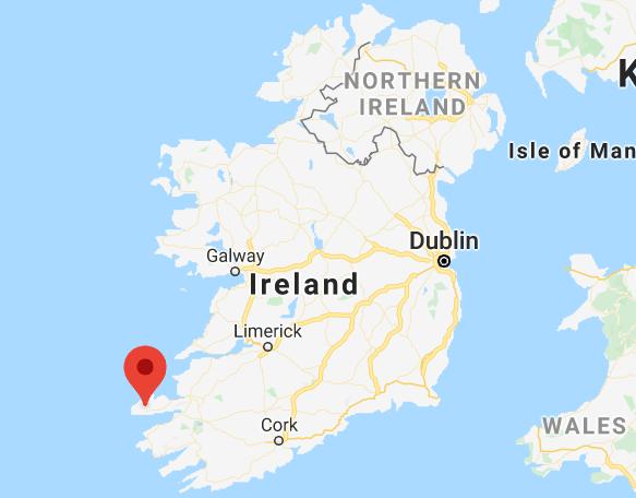 Dingle Peninsula Map Republic of Ireland and Northern Ireland