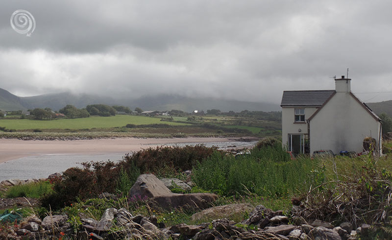 a house on the beach in Ireland near the ring of Kerry