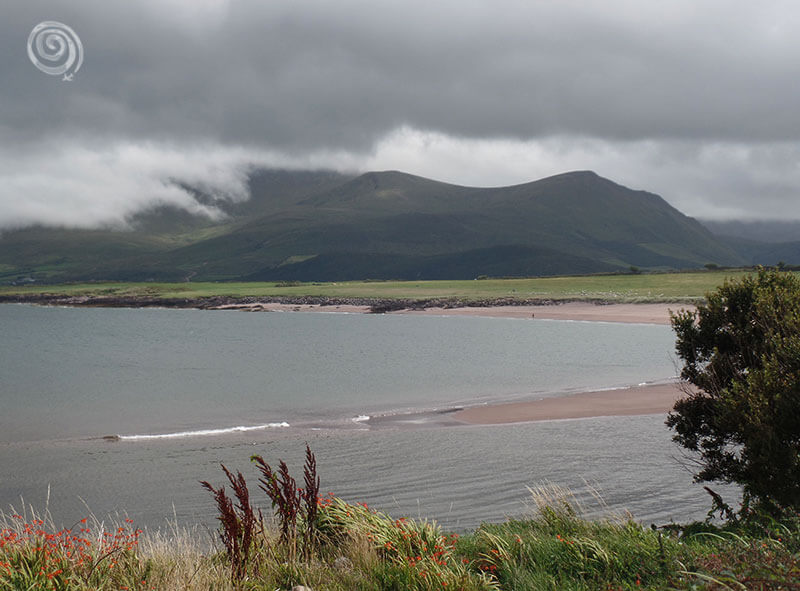 mountains sea and nature cloudy in Ireland