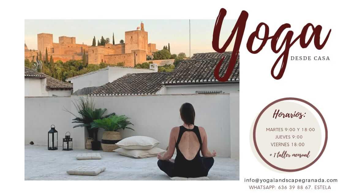 clases de yoga con Estela en Granada o en viajes